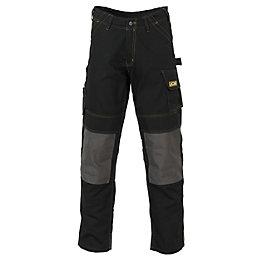 "JCB Cheadle Pro Black Work Trousers W32"" L34"""