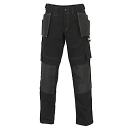 "JCB Rochester Pro Black Work Trousers W36"" L32"""