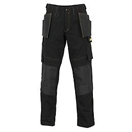 "JCB Rochester Pro Black Work Trousers W32"" L34"""