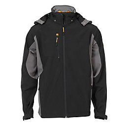 JCB STRETTON Black Water Repellent Softshell Jacket Large
