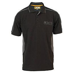 JCB Black & Grey Fenton Polo Shirt Extra