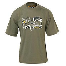JCB Olive Heritage T-Shirt Large