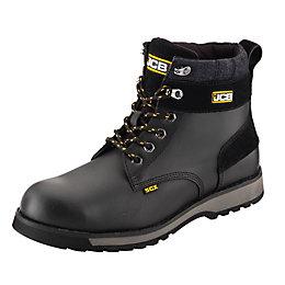 JCB Black Buffalo Leather Steel Toe Cap 5Cx