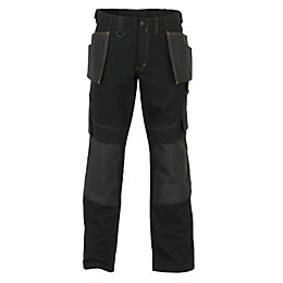 "JCB Cheadle Trade Black Work Trousers W40"" L32"""