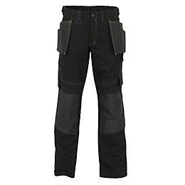 "JCB Cheadle Trade Black Work Trousers W32"" L35"""