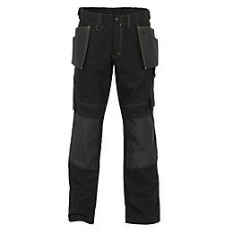 "JCB Cheadle Trade Black Work Trousers W38"" L35"""