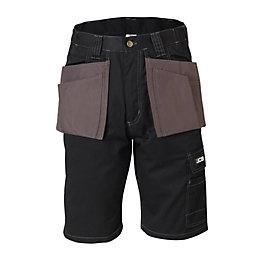 """JCB Keele Black Shorts W40"""" L23"""""""