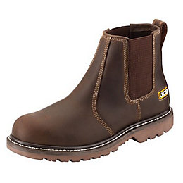 JCB Tan Soft Leather Steel Toe Cap Agmaster