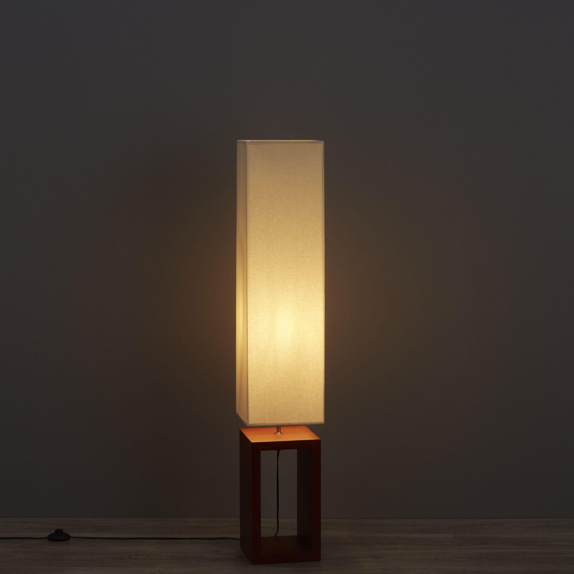 Diy at bq cargo dark brown cream floor lamp aloadofball Choice Image