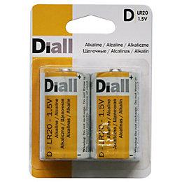 Diall Ultra D Alkaline Batteries, Pack of 2