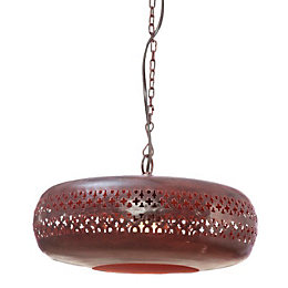 Balthasar Cut Out Chocolate Brown Pendant Ceiling Light