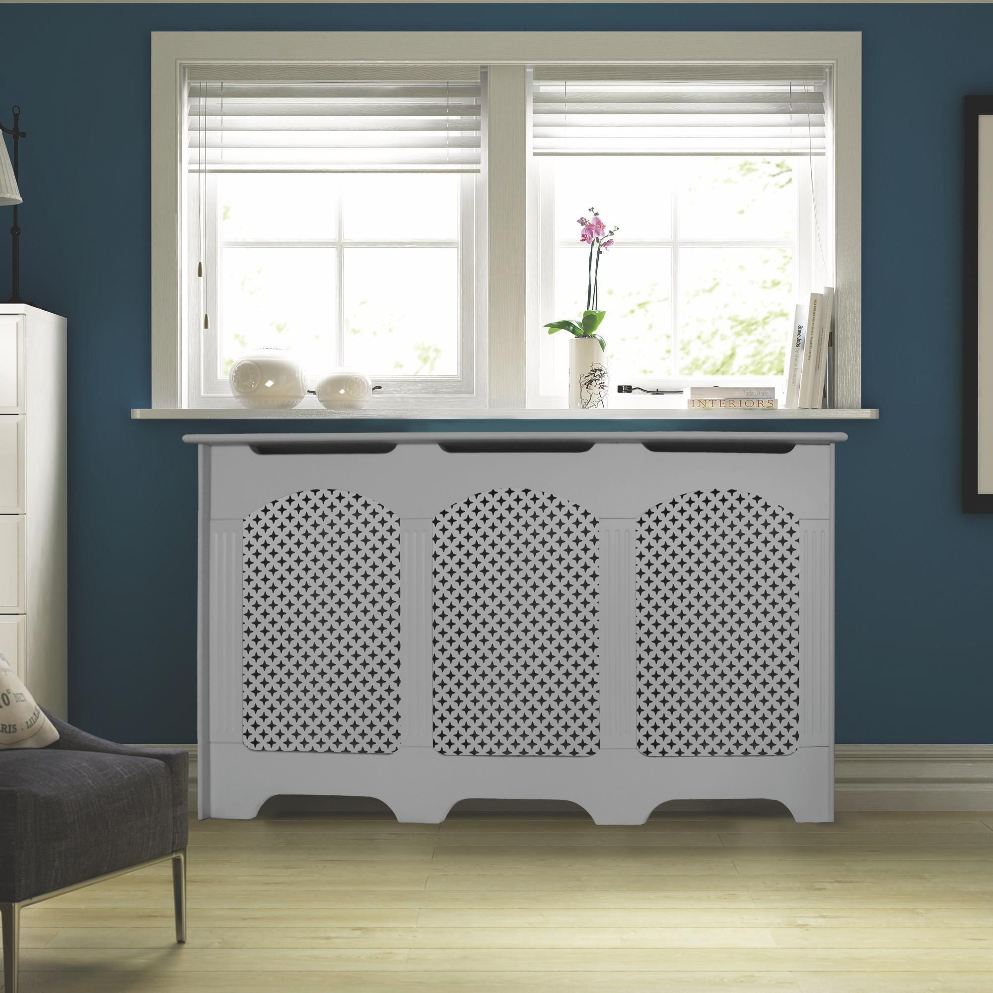 Cambridge Large White Painted Radiator Cover | Departments | DIY at B&Q