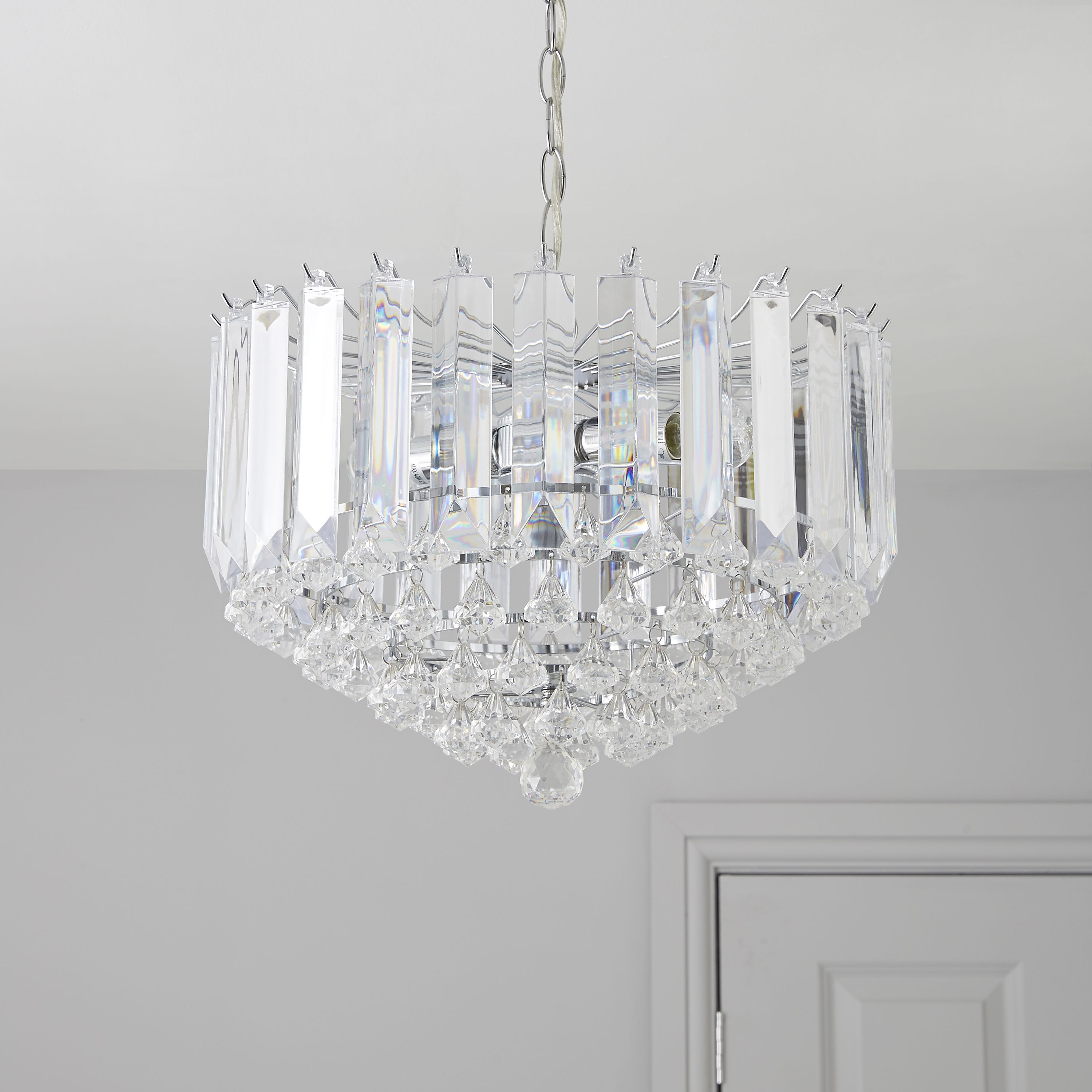 procopio faceted glass clear 2 lamp pendant ceiling light