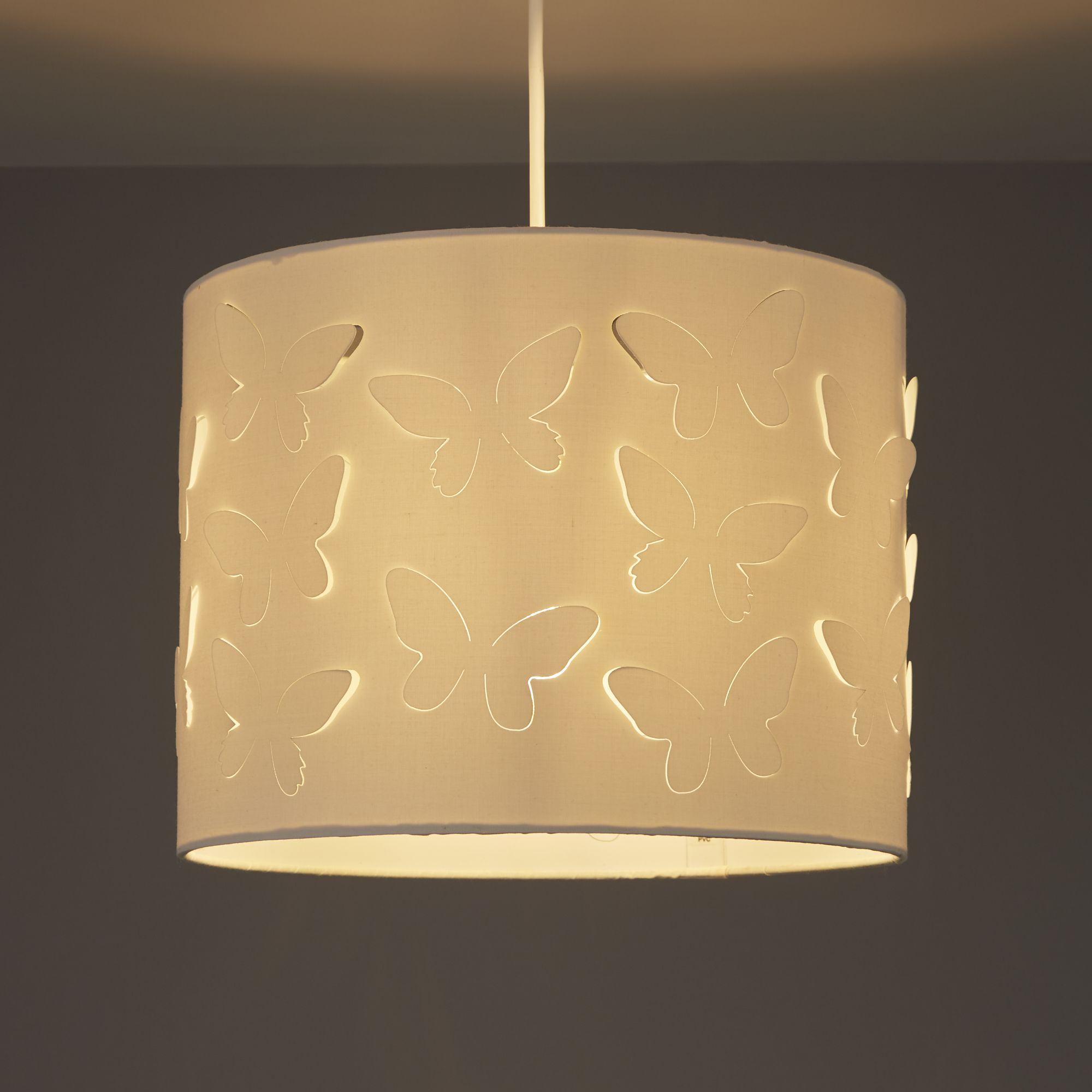 Colours Carriera Cream Butterfly Cut Out Light Shade (d)300mm