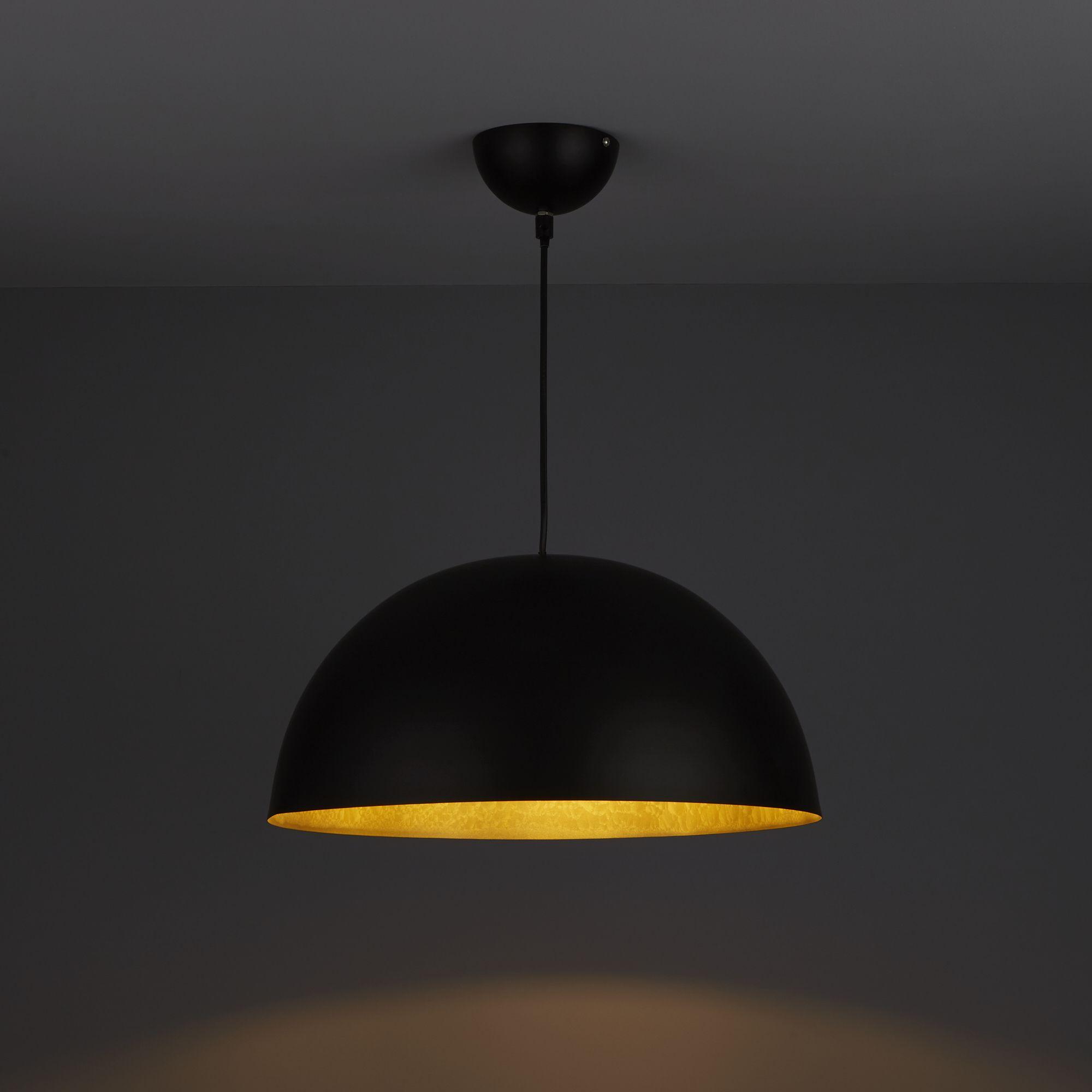 Ceiling Dome Light: Kapsel Dome Black Pendant Ceiling Light
