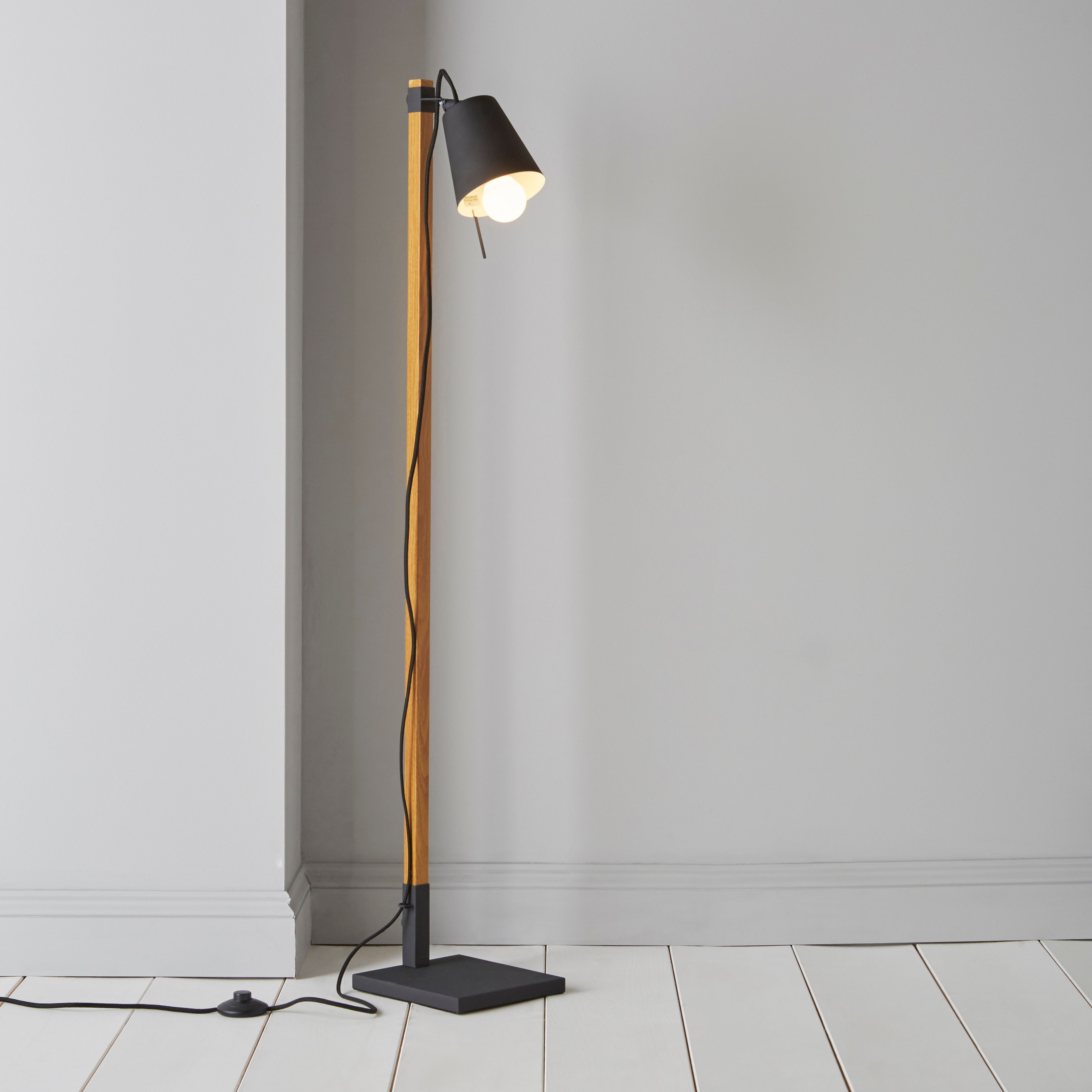diy at bq With wood effect floor lamp