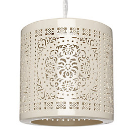 Colours Vasily Cream Cutout Light Shade (D)19.5cm