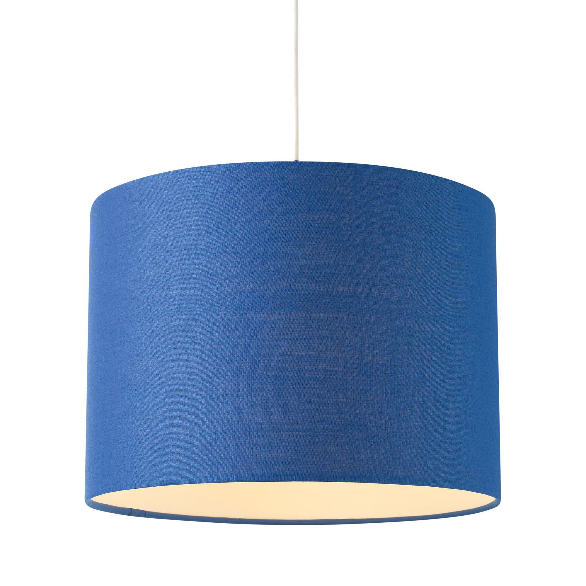 Colours Fairbank Navy Drum Light Shade (D)28cm | Departments | DIY at B&Q