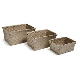 Cooke & Lewis Timali Taupe Bamboo Storage Basket,