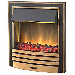 Blyss Arkansas Brass Effect Inset Electric Fire