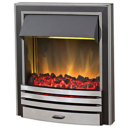 Blyss Arkansas Chrome Effect Inset Electric Fire
