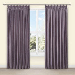Villula Wisteria Plain Faux Silk Pencil Pleat Lined