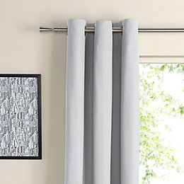 Zen Ecru Plain Eyelet Curtains (W)167cm (L)183cm