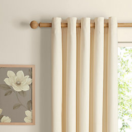 Zen Ecru Plain Eyelet Curtains (W)228cm (L)228cm