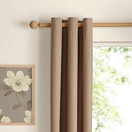 Zen Seine Plain Eyelet Curtains (W)167cm (L)228cm