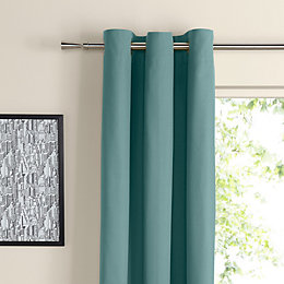 Zen Duck Egg Plain Eyelet Curtains (W)117cm (L)137cm