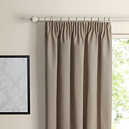 Prestige Seine Plain Pencil Pleat Lined Curtains (W)167cm