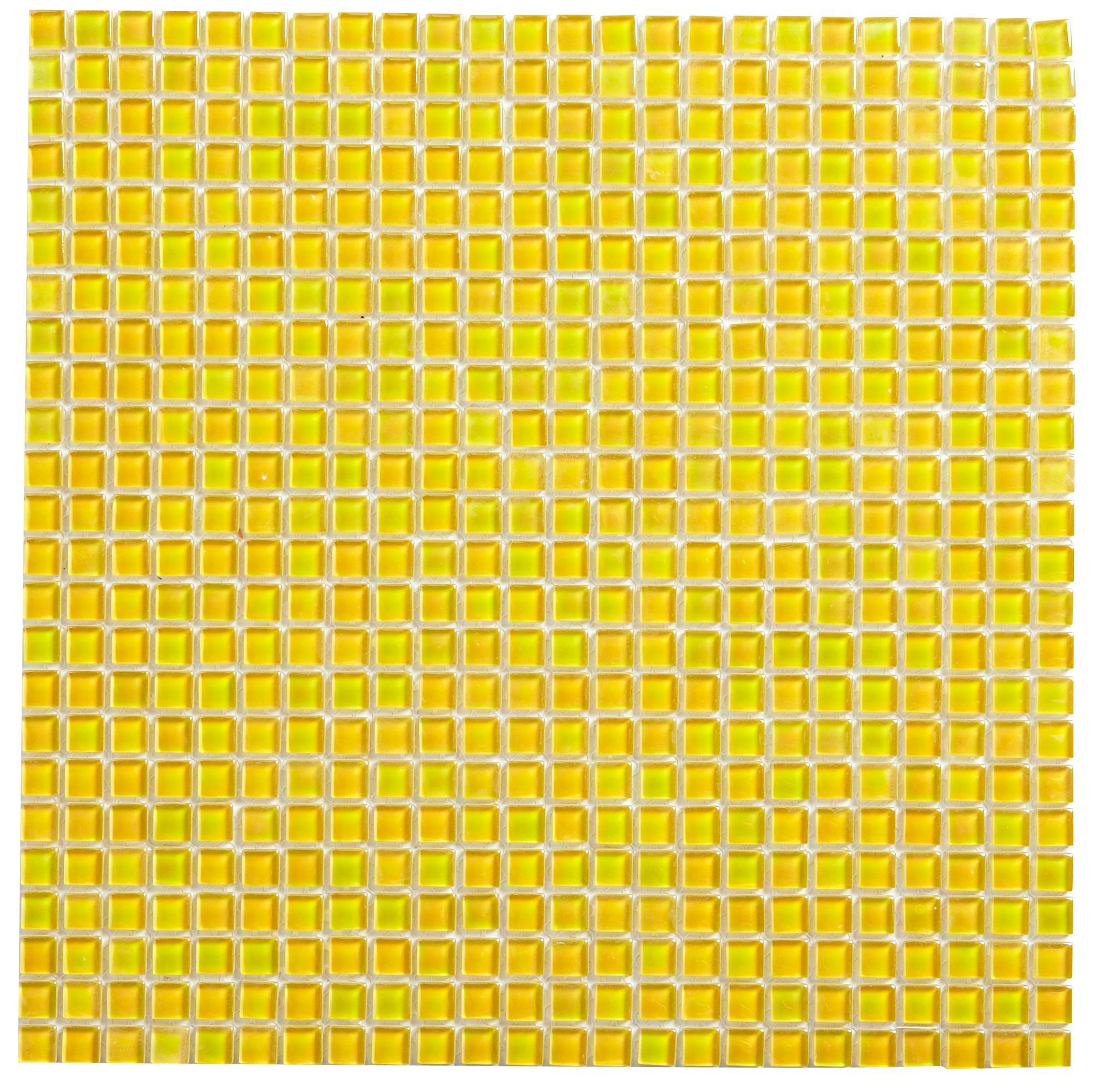 Green Glass Marble Mosaic Tile L 300mm W 300mm: Yellow Mosaic Glass Mosaic Tile, (L)300mm (W)300mm