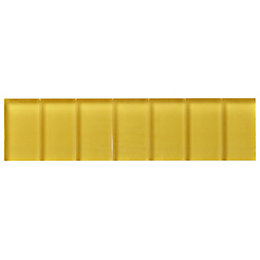 Yellow Scored Glass Border Tile, (L)200mm (W)50mm