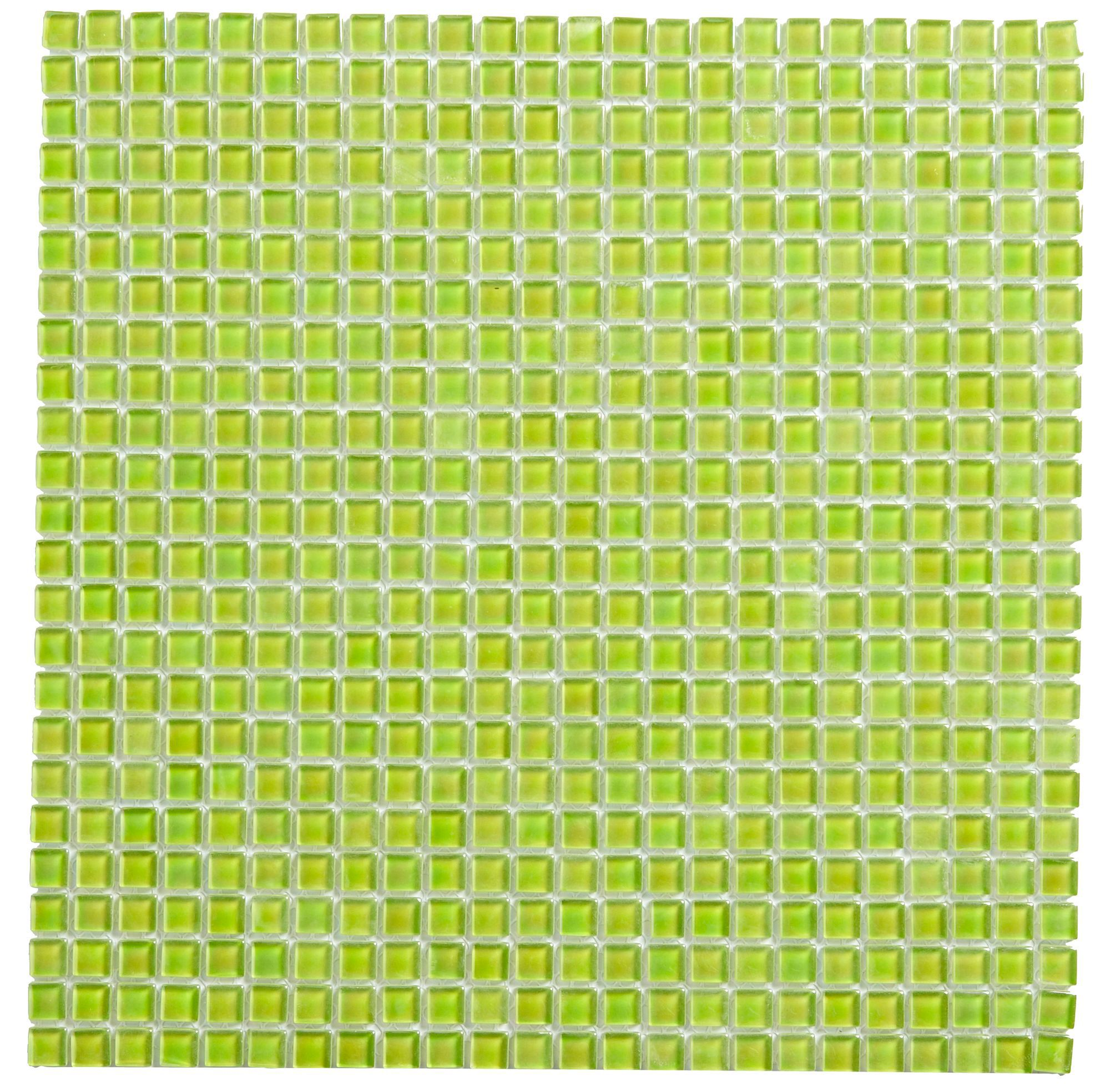Green Glass Marble Mosaic Tile L 300mm W 300mm: Lime Patterned Glass Mosaic Tile, (L)300mm (W)300mm