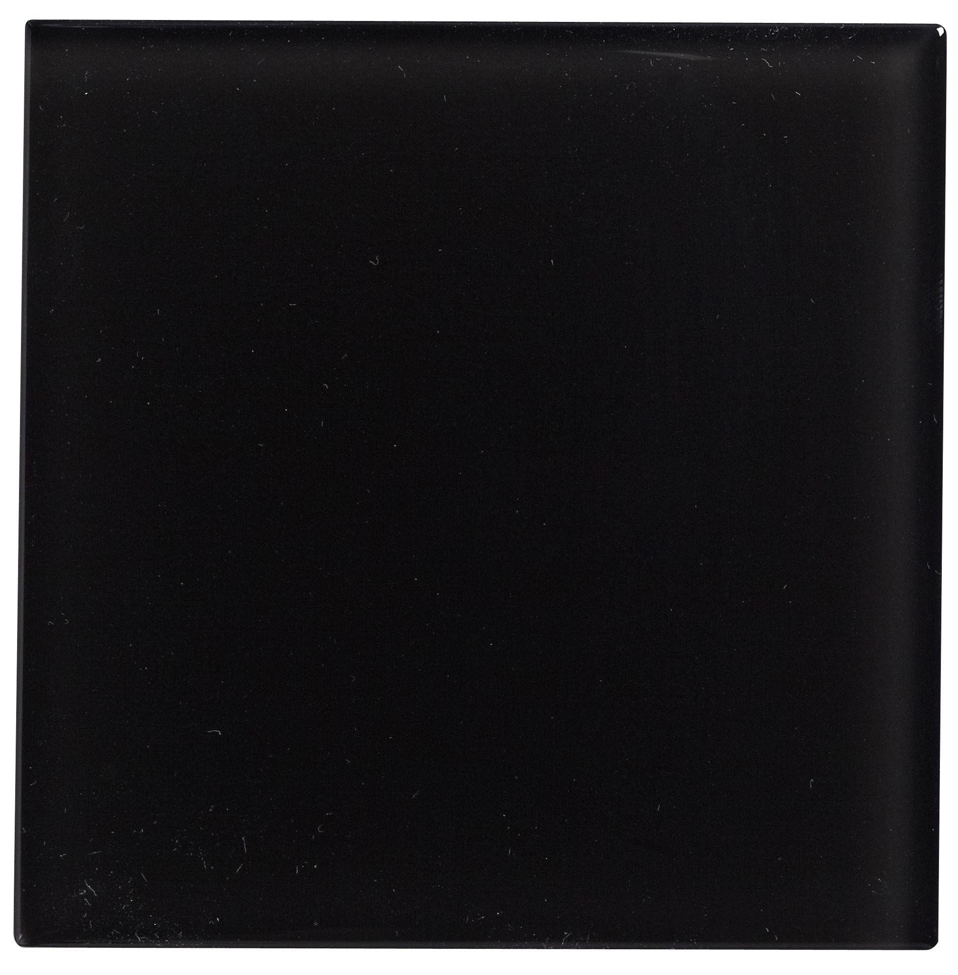 Black Glass Wall Tile, (l)98mm (w)98mm