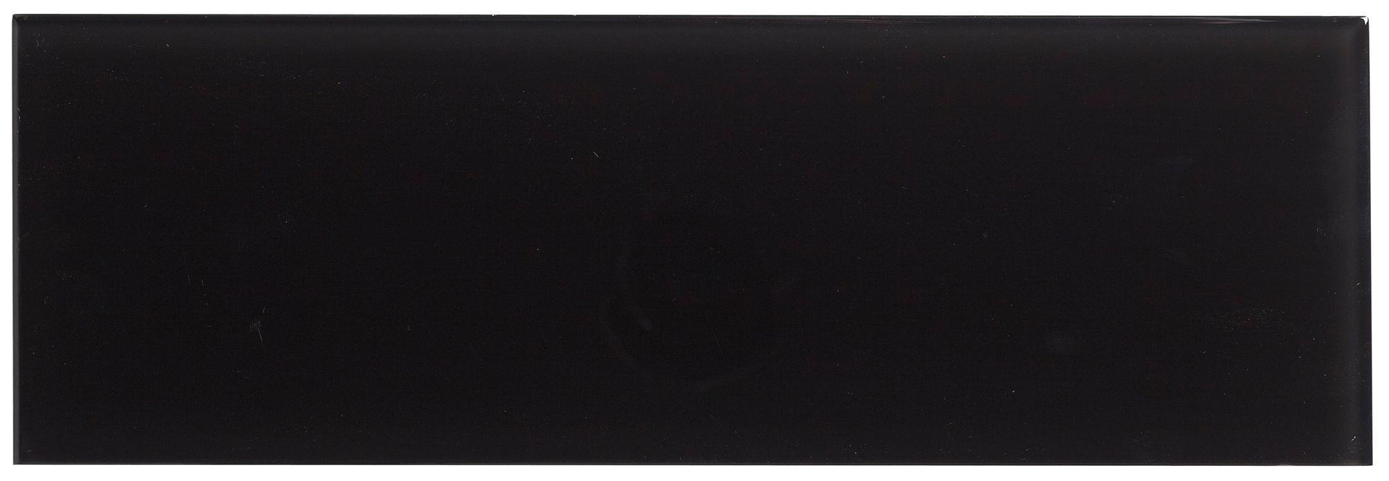 Black Glass Wall Tile, (l)300mm (w)100mm