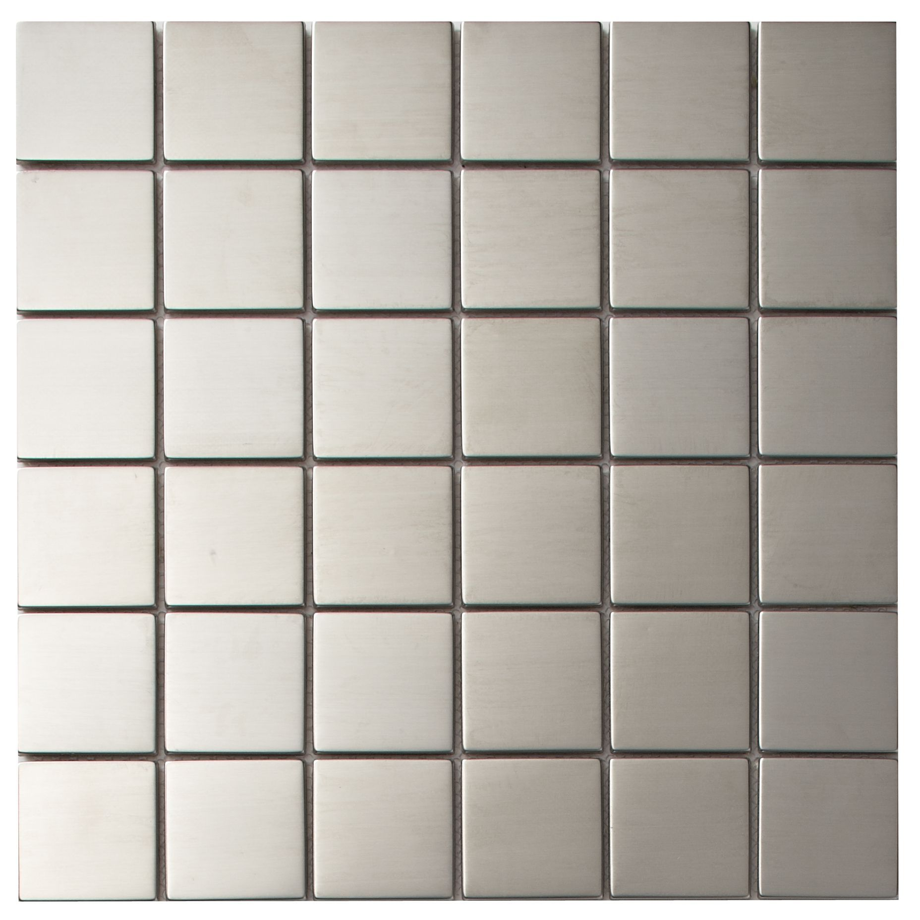 Green Glass Marble Mosaic Tile L 300mm W 300mm: Silver Stainless Steel Mosaic Tile, (L)300mm (W)300mm