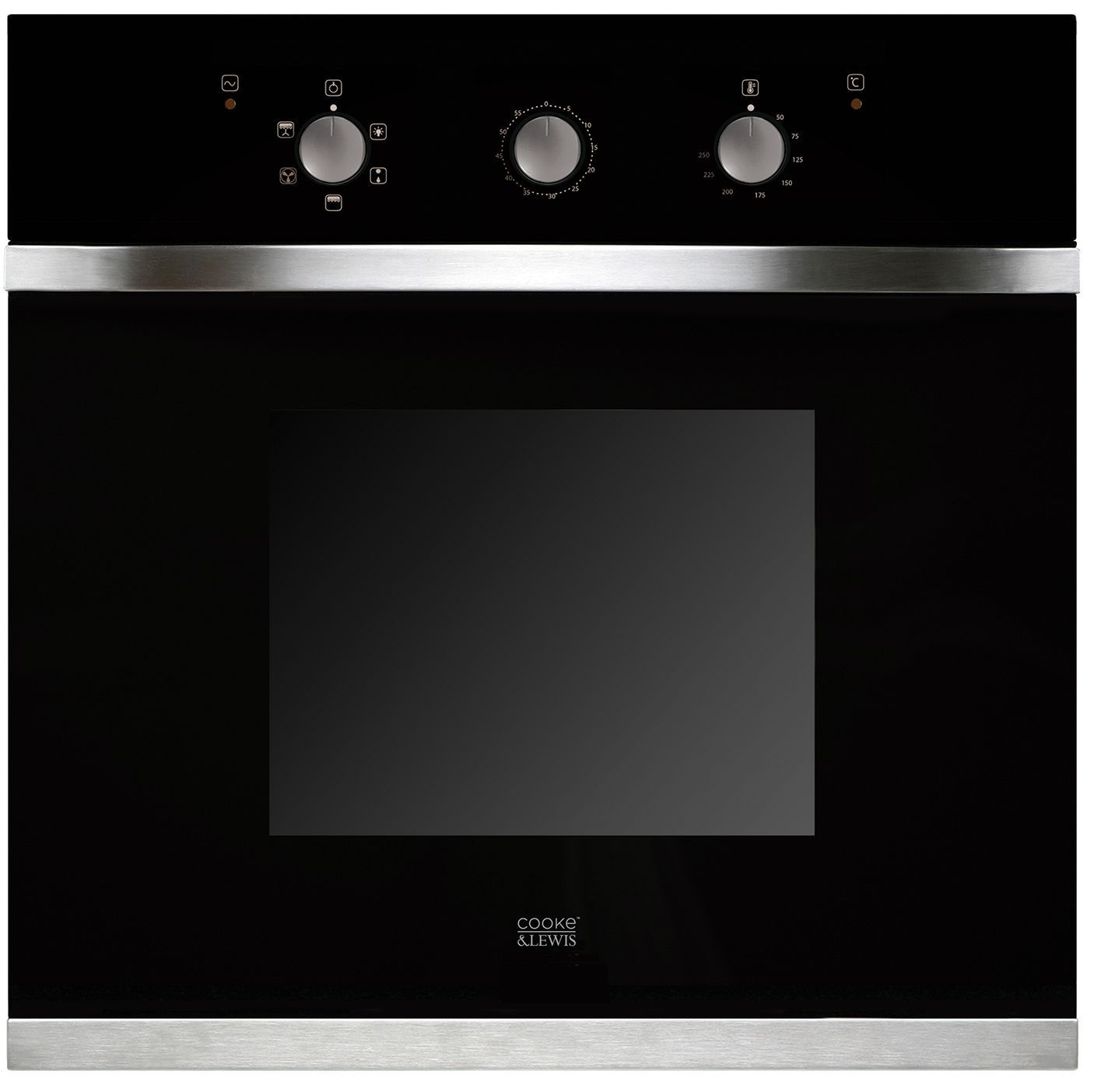 B And Q Kitchen Appliances Cooke Lewis Clmf1bk C Black Electric Multifunction Single Oven