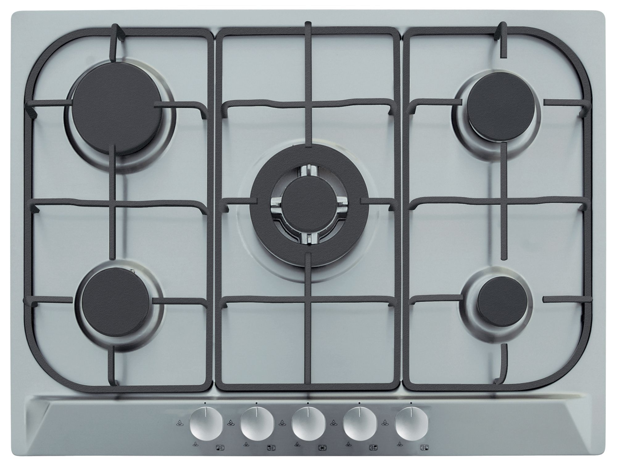 B And Q Kitchen Appliances Cooke Lewis Clgh1ss C 5 Burner Cast Iron Stainless Steel Gas