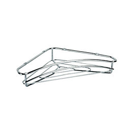 Curcuma Chrome Effect Corner Shelf (L)320mm (D)195mm