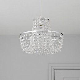 Colours Coltelli Clear Crystal Effect Beaded Light Shade
