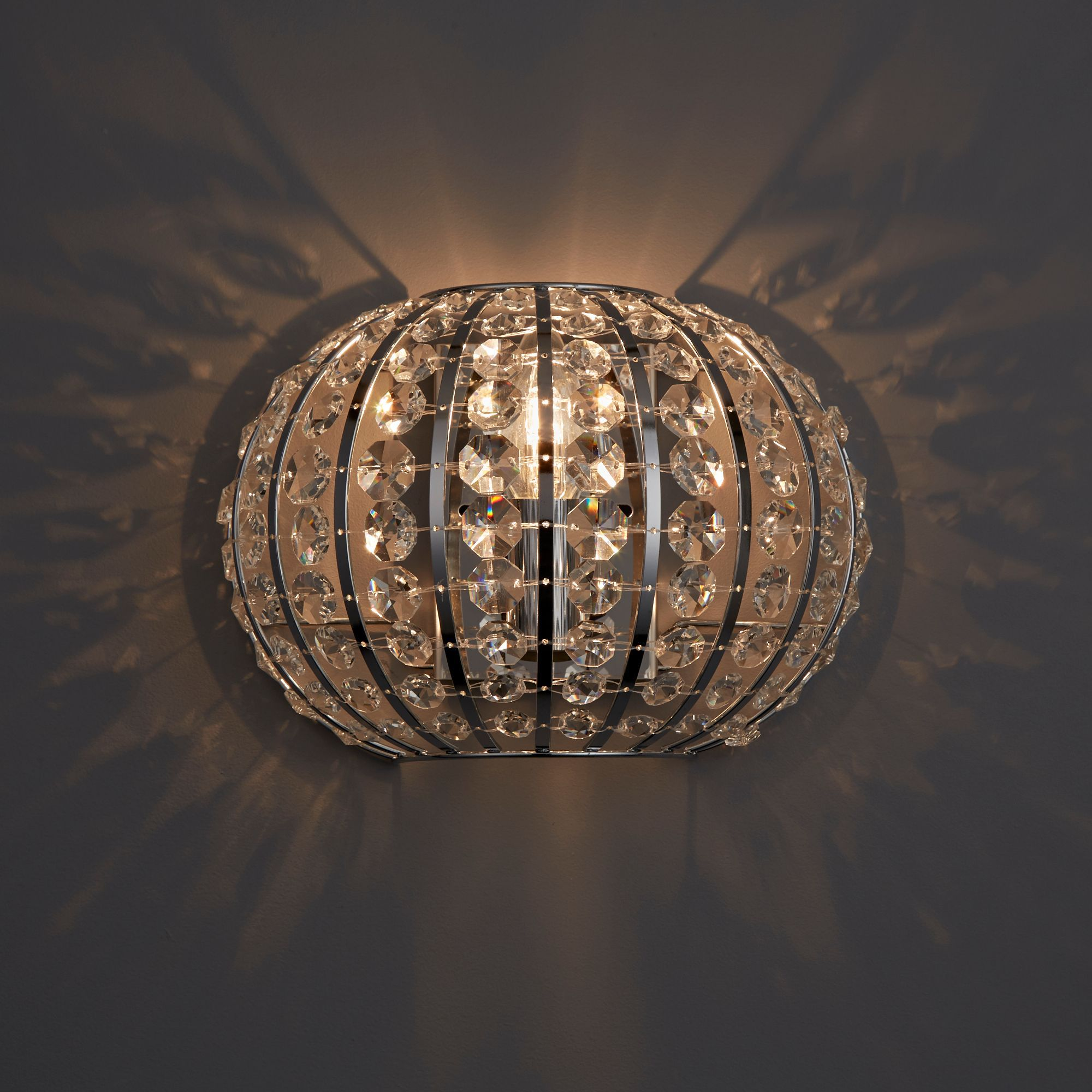 Galeo Chrome Effect Single Wall Light Departments Diy