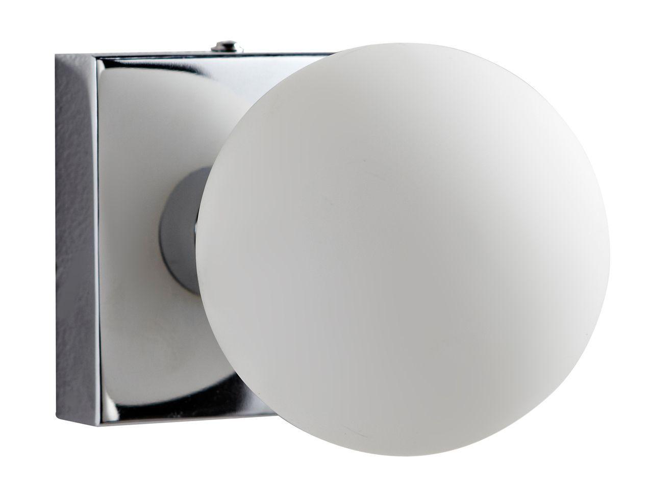 Colours Boswell Chrome Effect Halogen Capsule Bathroom Wall Light