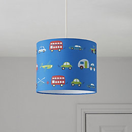 Colours Friedrich Blue Transport Light Shade (D)25cm