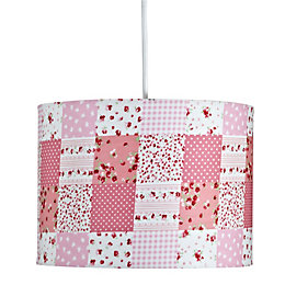 Colours Ferretti Pink Patchwork Light Shade (D)25cm