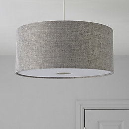 Colours Burnett Grey Drum Light Shade (D)400mm