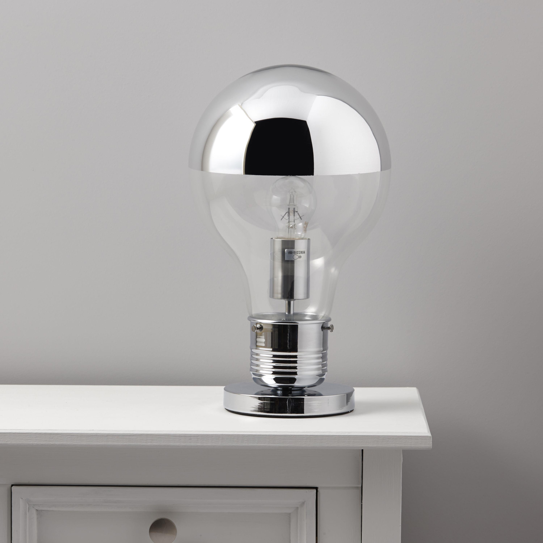 Idea Chrome Effect Table Lamp