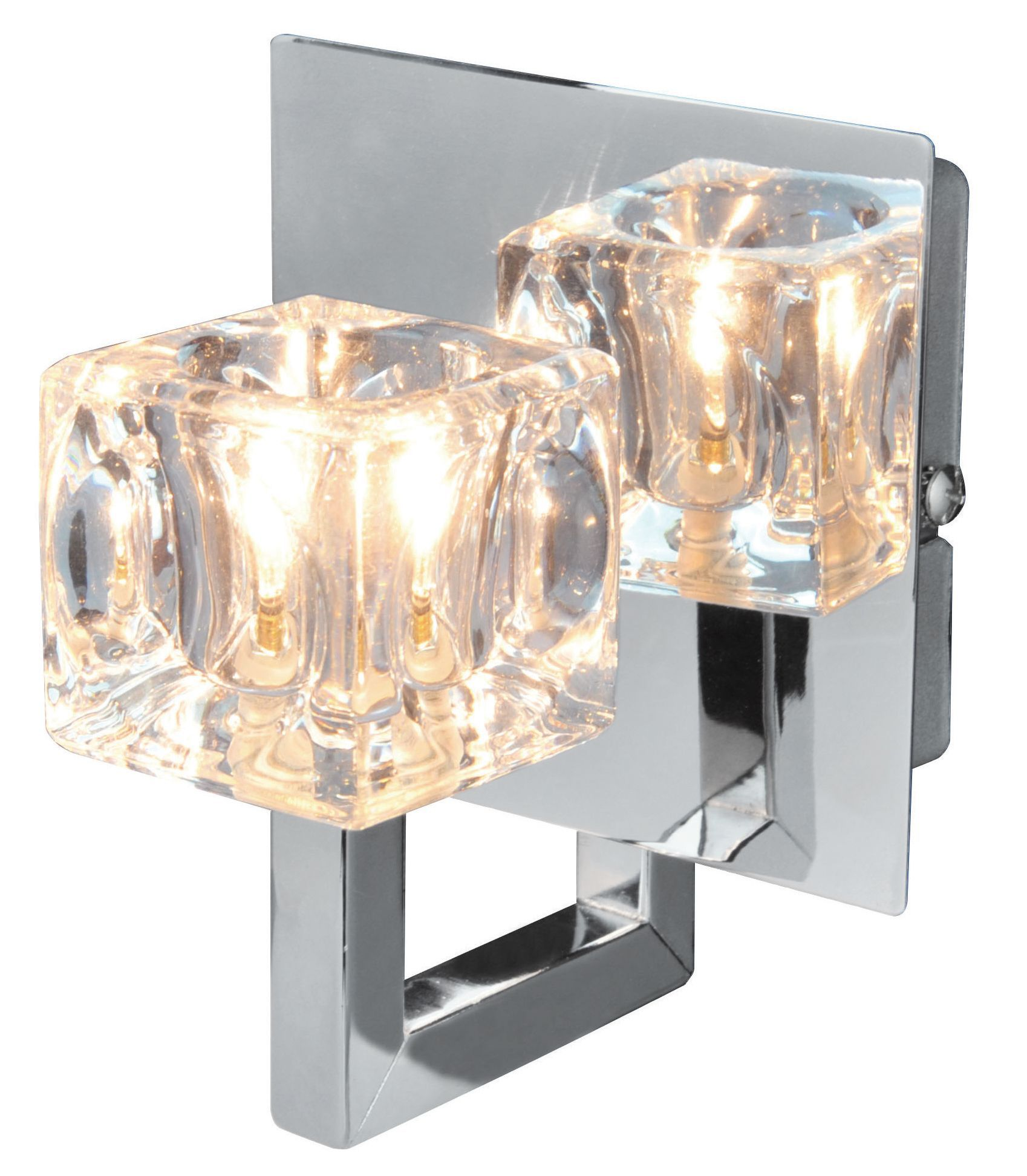 Outside Lights Wickes: Glace Chrome Effect Single Wall Light