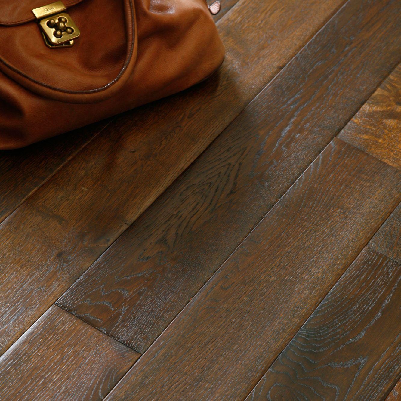 Colours Symphonia Coffee Solid Oak Flooring Oak Effect 1.4m² Pack