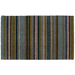 Colours Melia Multicolour Stripe Coir Door Mat (L)450mm